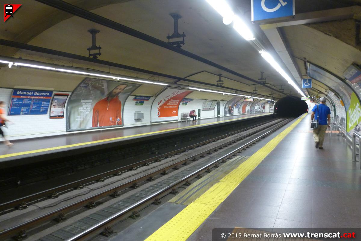 Metro de madrid l nia 2 las rosas cuatro caminos for Piscina 02 manuel becerra
