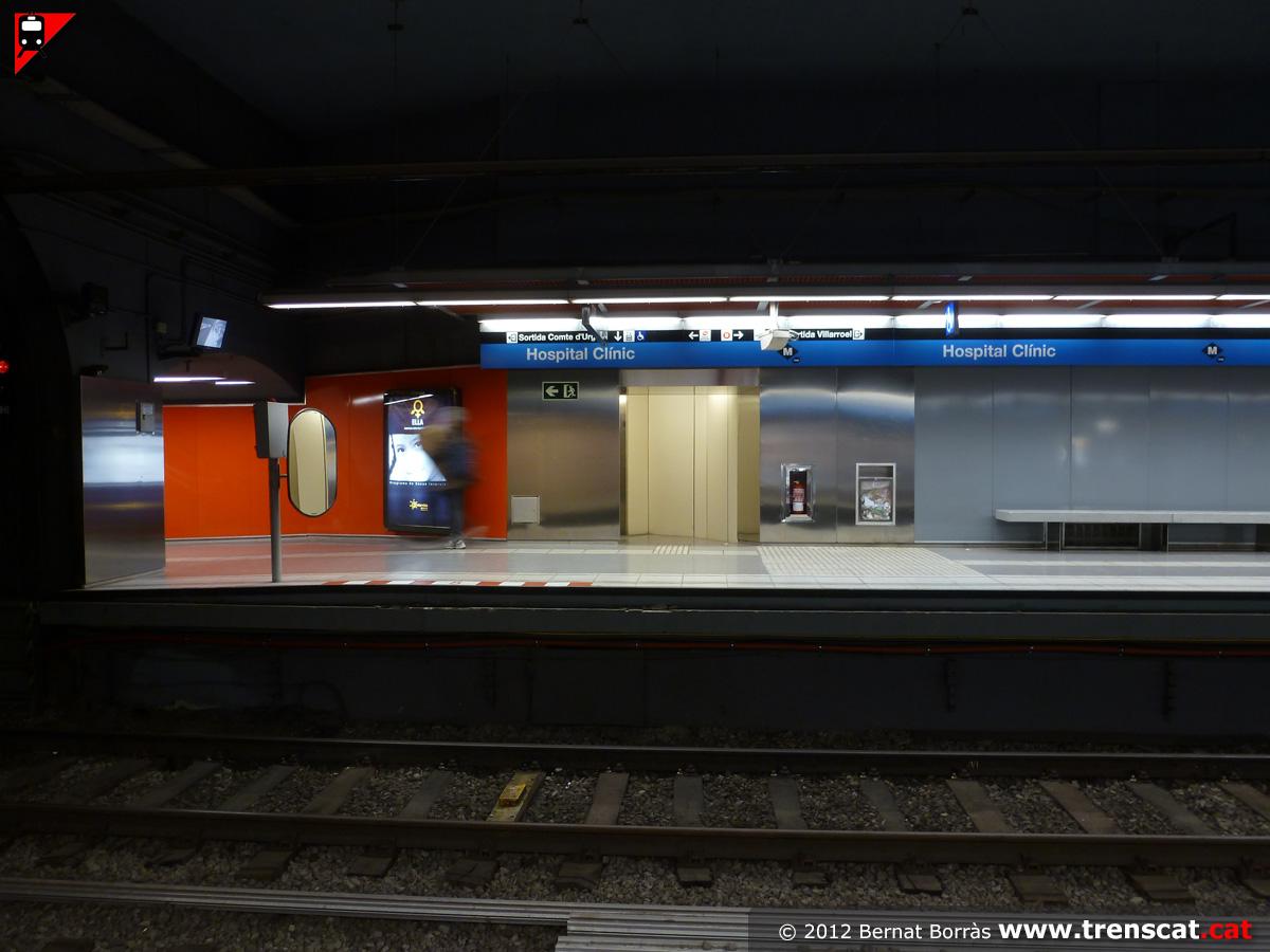 El metro de barcelona l nia l5 hospital cl nic for Metropolitan exteriors inc reviews