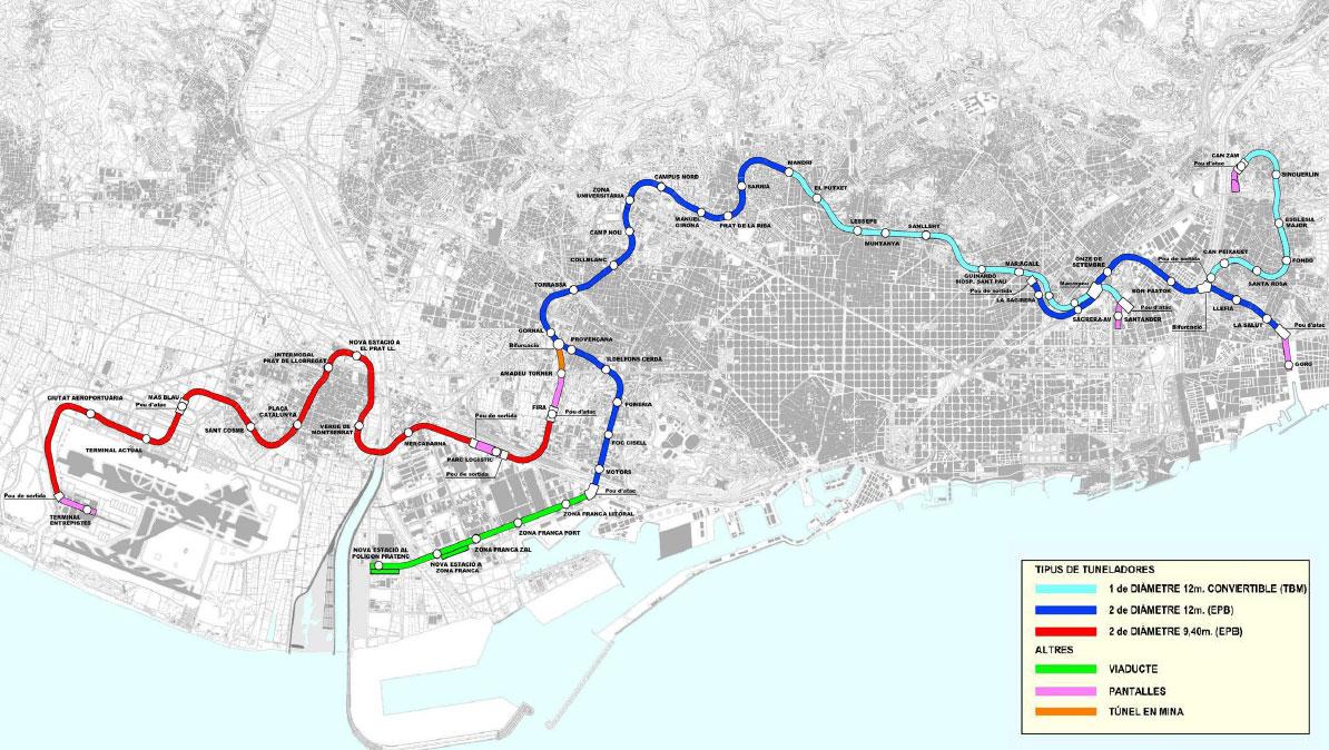 El Metro De Barcelona Linia L9 Nord La Sagrera Can Zam L9